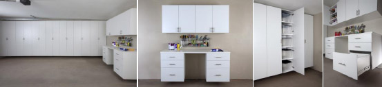 White Premium Finish - White GSi Custom Garage Cabinets