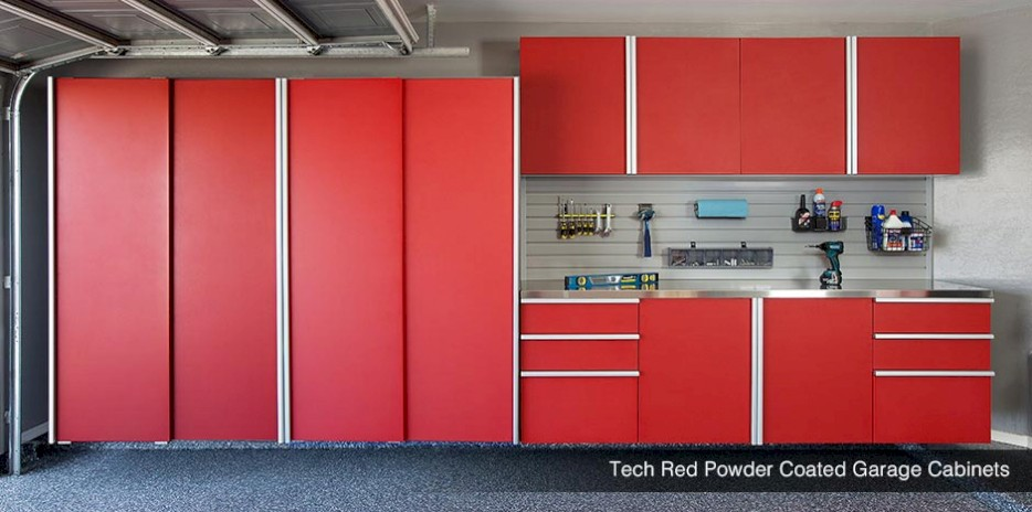 GSi Premier Garage Cabinets Powder Coated Standard Custom Wood Storage